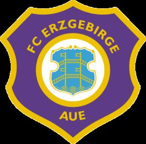 Die Abbildung zeigt das Logo des FC Erzgebirge Aue